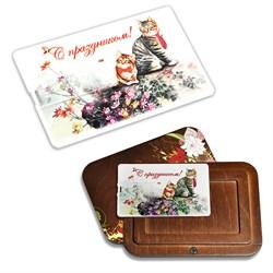 """Флешка-открытка """"С праздником"""" в подарочном футляре - фото 12819"""