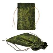 Подарочный мешок цвета хаки, средний (140х200мм)