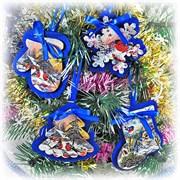 Эко-набор новогодних игрушек (синий)