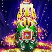 Резная свеча «Именная» (высота 22 см)