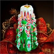 Резная свеча «Ассорти» (высота 18 см)