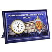 "Настольная плакетка ""ФСБ"", с часами"