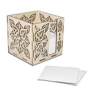 Блок под листки для записей, резной